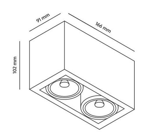 Basicstern Surface 2xGU10